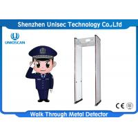 Quality 6/12/18 Zones Door Frame Metal Detector , Security Body Scanner For Security Inspection wholesale