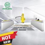 Quality WANLONG5 Axis automatic stone cutting machine/cnc granite cutting machinery Bridge Saw for granite/stone/marble wholesale