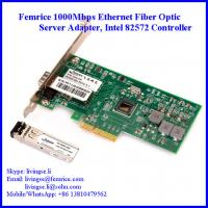 Quality 1000Mbps Single Port SFP Slot PCI Express x4 Server Network Adapter (Intel 82572 Chipset) wholesale