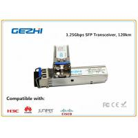 Quality 1.25Gbps SFP Optical Transceiver , 120km Reach Single Mode SFP EZX Optical Transceiver wholesale