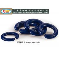 C shaped diving lead weights with die casting pvc coated with SGS