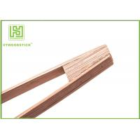 Quality Eco - Friendly Wooden Kitchen Accessories , 35cm Long Wooden Salad Tongs Barbecue Tool Set wholesale
