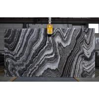Quality River Wave Spray Black & White Natural Marble Tile Slab For Interior Design wholesale