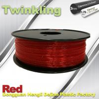 Quality Flexible 3D Printer Filament Twinkling 3mm 1.75mm Red Filament 1.3Kg / Roll wholesale