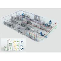Quality 2000kg Dairy Processing Line and Milk Fat Processing Equipment wholesale