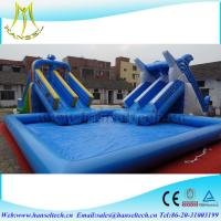 China Hansel top sale inflatable square swimming pool for water party on sale