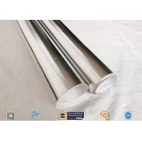 China 0.43mm Light Reflective Silver Coated Fabric Aluminium Foil E Glass Fabric For Pipes on sale