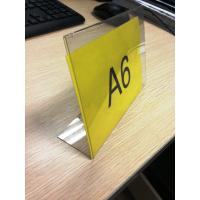 Quality L Shaped Acrylic Pop Displays , Plexiglass Price Tag Holder wholesale