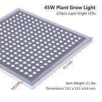 Quality IP65 Waterproof Full Spectrum LED Grow Lights Silver Surface Finish , 8MM Thickness wholesale
