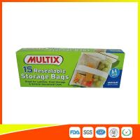 Quality Supermarket Plastic Food Storage Bags / Zip Up Storage Bags Resealable Food Safe wholesale