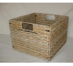 Quality 2016 water hyacinth square foldable storage basket/sundries basket 23cm*23cm wholesale