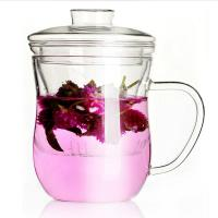 China Glass Filter Glass Tea Infuser Cup Customized Logo For Office / Travel on sale
