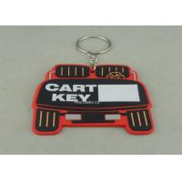 Quality Stamping / Die Casting Rubber Key Chain , Design Your Own Custom Shaped Keychains wholesale