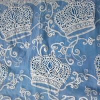 China 2014 new lace fabric design,Embroidery Crown fabric,ladies' garment,bar lace,eveningwear on sale