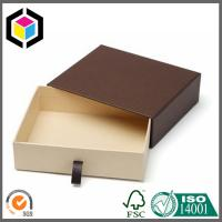 China Brown Color Kraft Paper Gift Box Drawer Style; Chipboard Paper Gift Box on sale