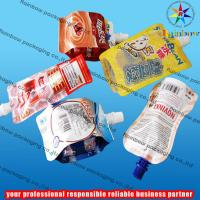 Quality juice spout pouch packaging with bottom gusset wholesale