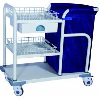 Quality Medical Trolleys , Epoxy Coated Steel Laundry Trolley For Nurse wholesale