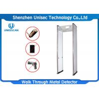 Quality 18 Zone Light Portable Metal Detector For Bar / School / Metro Station wholesale