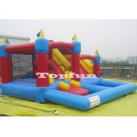 China 20ft Inflatable 4 in 1 Combo Jumping Castle Jump And Slide With Plastic Ball Pit on sale