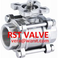 Quality SS 3PC BALL VALVE WITH MOUNTED PAD,1000WOG wholesale