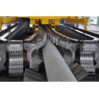 China PE / PP Single Wall Corrugated Pipe Machine , Corrugated Pipe Extrusion Machinery on sale