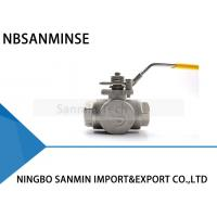 Quality 3 Way Hydraulic Ball Valve 1 Inch 1000psi WOG CF8M3K-1 Stainless Steel SS316 Oil And Gas Pipe Line wholesale