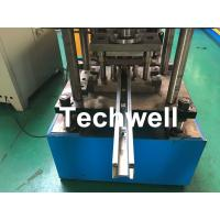 Quality Custom Made Sliding Shutter Door Guide Rail Roll Forming Line With Chain Drive wholesale