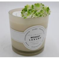 Quality Straight Cup Spraying Coloured Label Environmentally Friendly Vanilla Scented Candles With Metal Lid wholesale
