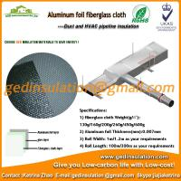 China woven fabric insulation material aluminum foil coated fiberglass cloth on sale