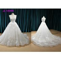 Quality White Princess Style Bridesmaid Dresses , Zipper Back Sexy Princess Wedding Dress wholesale