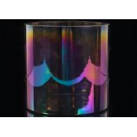 Quality Glass Cylinder Candle Holders Wedding Decorative Rainbow Iridescent Glass Candle Jar wholesale