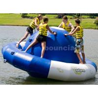 Quality 0.9mm Double Layer PVC Fabric Inflatable Saturn Rocker For Adult Used In Lake wholesale