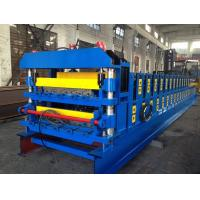 Quality 18 Forming Stations Double Layer Roof Tile Roll Forming Machine For Metal Roof Wall Panels wholesale