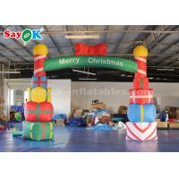 China 5*4m Inflatable Christmas Arch With Gift Box For Garde / Street on sale