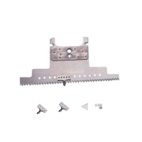 China 68 HRA Food Bag Tear Notch Serrated Cutting Knife Saw blade of packaging machine parts on sale