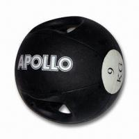 Quality Medicine Ball with Handle and Waterproof Feature, Made of Rubber wholesale