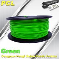 Quality Green Low Temperature 3D Printer Filament , 1.75 / 3.0mm PCL Filament wholesale