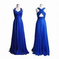 Quality 100% Silk Long Evening Dress, Customized Colors and Sizes are Accepted wholesale