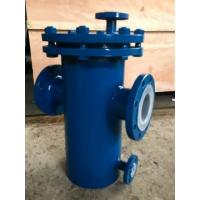China Carbon Steel Basket Water Meter Strainer Flanged End Connect With PTFE Lined on sale