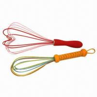 Quality Silicone Beaters/Whisks with stainless steel handle wholesale