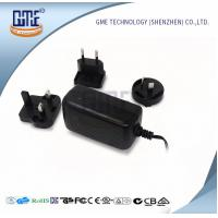 Quality Wall Mount AC DC Switching Power Supply 12v 2a With Interchangeable Plugs wholesale