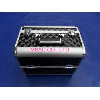 Quality Black Aluminum Zebra Cosmetic Case With Tray For Protect Cosmetic Bottle wholesale