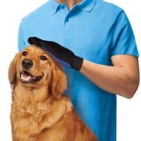 Quality Gentle Silicone Dog Grooming Glove , Hair Remover Pet Deshedding Glove wholesale