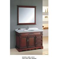 Quality Freestanding bathroom furniture double sink bathroom vanities and cabinets marble top wholesale
