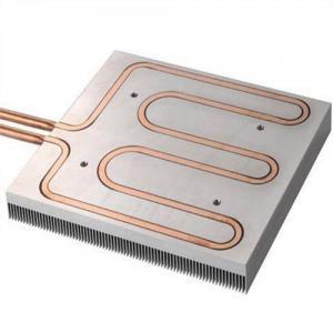 China Water Cooled Liquid Panel Copper Pipe Heat Sink , Aluminum Extrusion Heatsink on sale