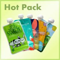 Buy cheap Eco Friendly Disposable Baby Food Stand Up Pouch With Spout Food Grade Leak Proof product