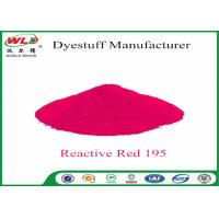 Quality Pure Red Clothes Dye C I Red 195 Reactive Red Wbe Powder Dye For Clothes wholesale