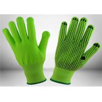 China Black Nitrile Dots Puncture Resistant Gloves , Nitrile Work Gloves EN388 Certificated on sale