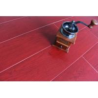 Quality Crystal Surface Bamboo Fiber Wooden Floor Tiles Fireproof Bright Wine Red wholesale