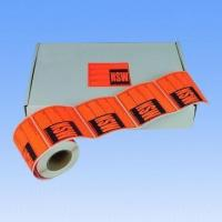 Quality Waterproof Adhesive Fluorescent Label, Used as Express and Shipping Labels, Accepts Customized Sizes wholesale